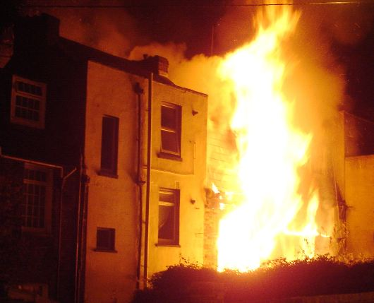 picture of a home fire