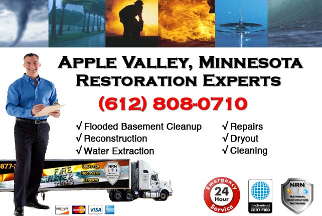 Apple Valley Flooded Basement Cleanup