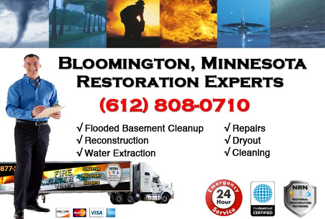 Bloomington Flooded Basement Cleanup