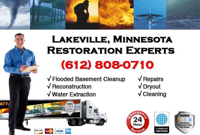 Lakeville Flooded Basement Cleanup