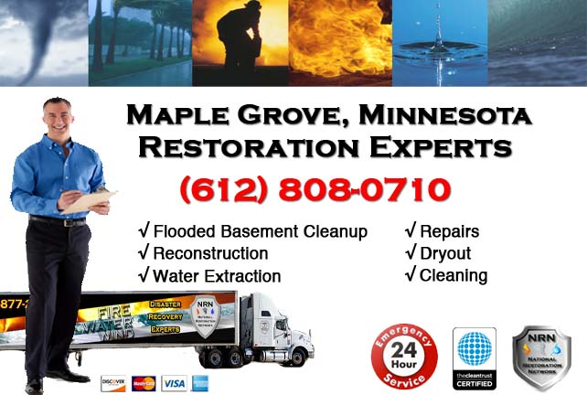 Maple Grove Flooded Basement Cleanup