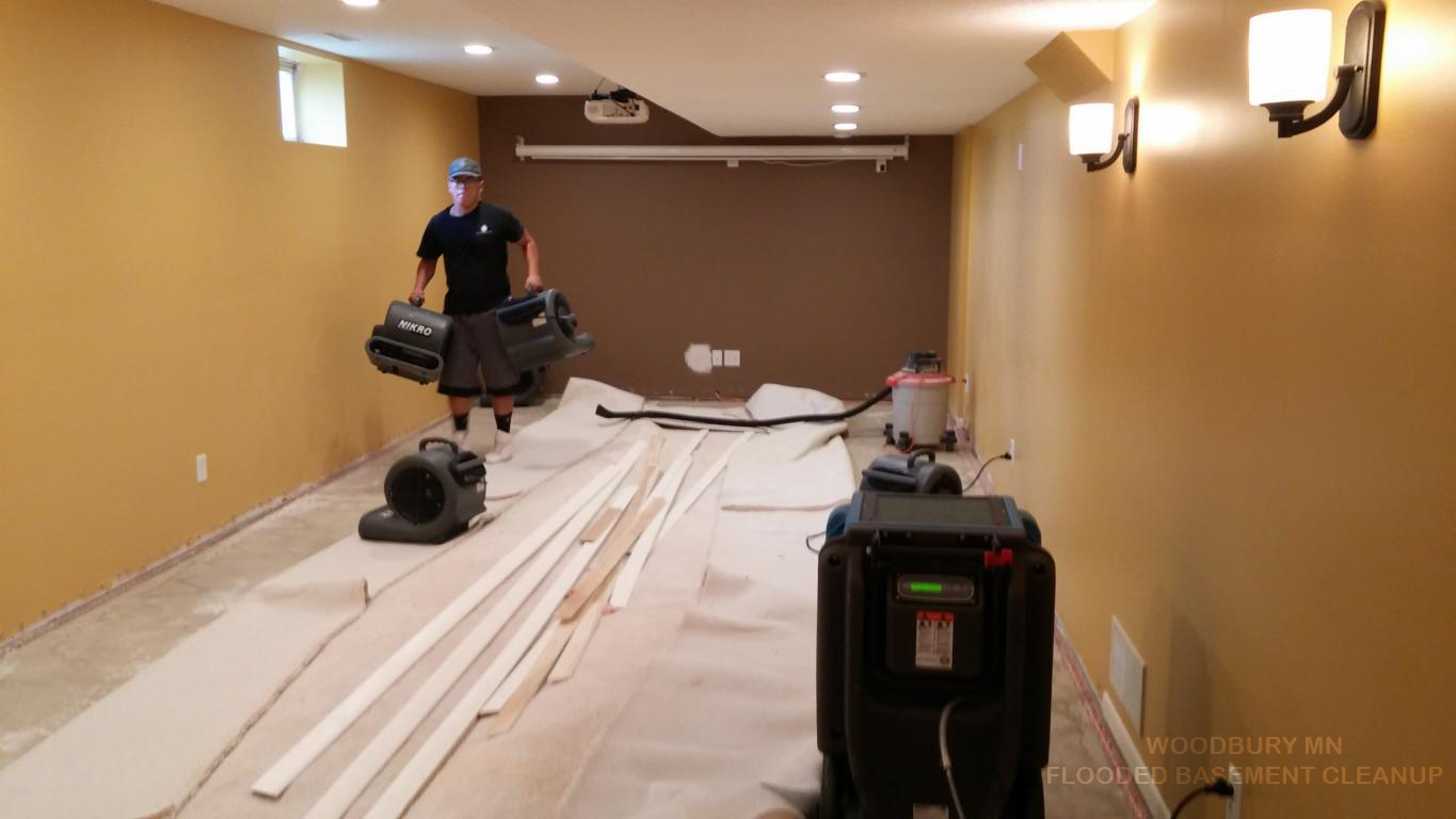 WOODBURY MN FLOODED BASEMENT CLEANUP